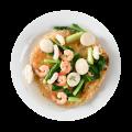 bihun-siram-garing-seafood